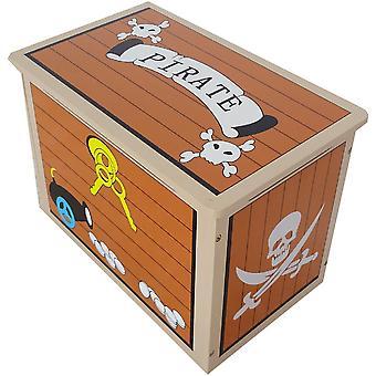 Kiddi Style Pirate Treasure Chest Toy Box