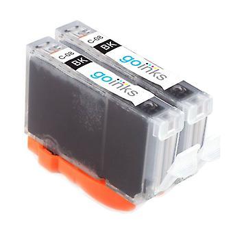 2 cartuchos de tinta negra para reemplazar la Cli-8Bk compatible/no OEM de Canon de Go Inks