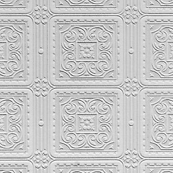 Papel tapiz pintable lujo vinilo con textura realzada Turner mosaico Anaglypta