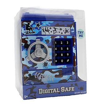 Hot Focus Digital Money Safe Toy Bank with Electronic Password Lock, Camo