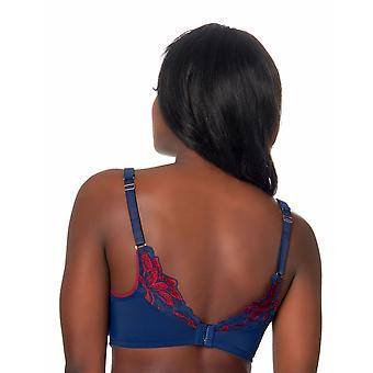 After Eden D-Cup & Up 20.05.7583-212 Women's Eve Dark Blue Lace Padded Underwired Full Cup Bra