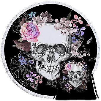 Floral Skull tegning strand håndkle