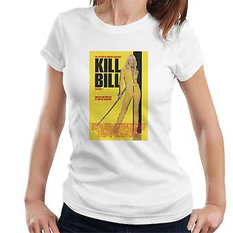 Kill Bill Movie Poster Beatrix Kiddo Yellow Sword Women's T-Shirt