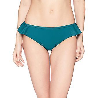 Merk - Coastal Blue Women's Swimwear Bikini Bottom, Jaded, S (4-6)