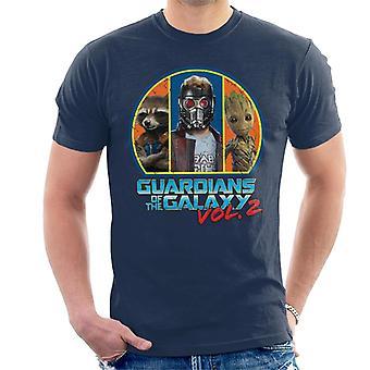 Marvel Guardians Of The Galaxy Vol 2 Main Characters Men's T-Shirt