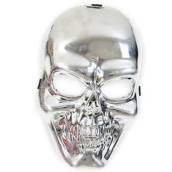 Schedel masker zilver schedel masker horror Halloween piraat