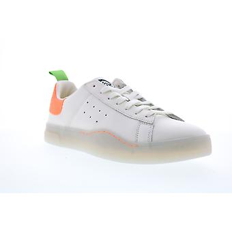 Diesel Clever S-Clever Low Mens White Leather Casual Fashion Sneakers Shoes