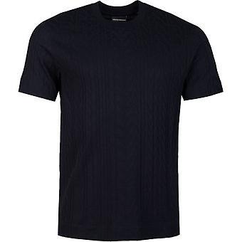 Armani All Over Logo Crew Neck T-Shirt