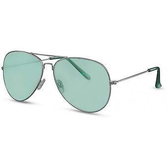 Okulary przeciwsłoneczne Unisex pilot srebrny/zielony (CWI2130)
