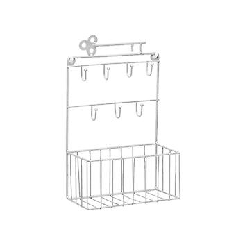 Wrought Iron Rack Wall Mounted Rack Home Wall Decoration White