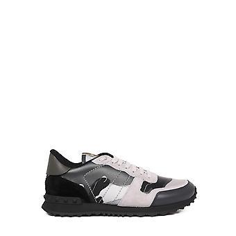 Valentino Garavani Uy2s0723xvuij7 Heren's Grey Fabric Sneakers