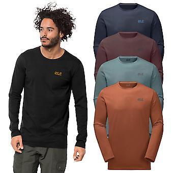 Jack Wolfskin Mens 2020 Essential långärmad bomullsblandning T-shirt 36% MINDRE RRP