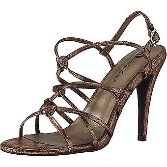 Michael Antonio Women's Sienna Heeled Sandal, Gold, 9 M US