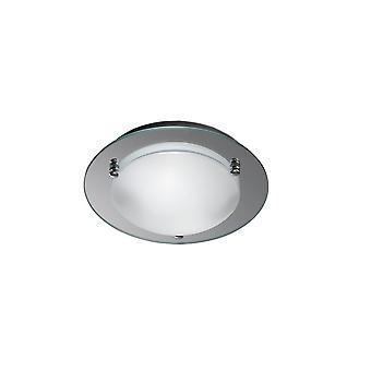 Plafond flush, 300mm Round 2 Light E27 Chrome poli