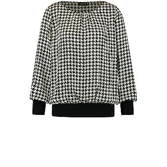 Taifun Houndstooth Check Blouse