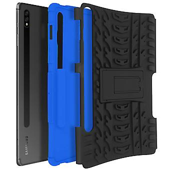 Back Cover Galaxy Tab S7 11.0 Hybrid with Stand Holder - Black and Blue