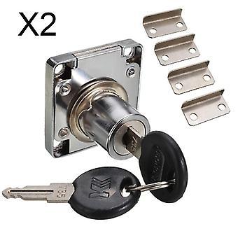 デスクドロワーロック、ワードローブロック(2つのキー付)