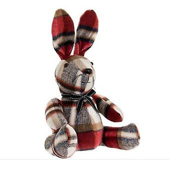 Red Check Rabbit Doorstop By Lesser & Pavey
