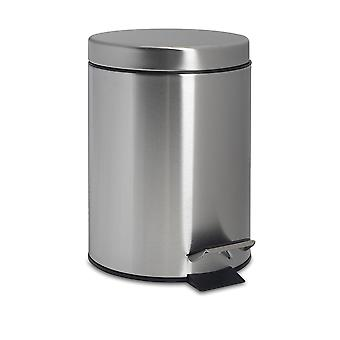 Bathroom Pedal Bin with Removable Inner Bucket, 3 Litres - Matt Finish