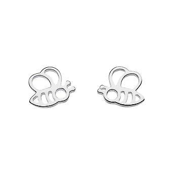 Dew Sterling Silver Dinky Honey Bee Yourself Bee Stud Earrings 4466HP015