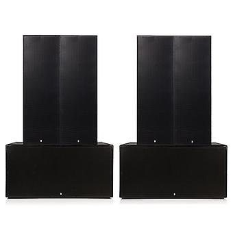 """Big gig rig 4 - passive 8000w rms triple 12 and dual 18"""" subwoofer pa system"""