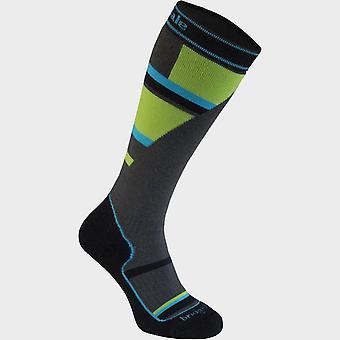 New Bridgedale Kids' Ski Mountain Merino Endurance Ov Sock Grey/Green