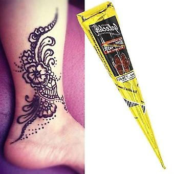 1pcs Indian Henna Tattoo Paste Cone For Body Paint - Temporary Mehndi