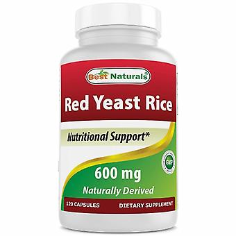 Best Naturals Red Yeast Rice, 600 mg, 120 Caps
