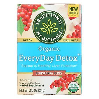 Traditional Medicinals Teas EveryDay Detox Tea, 16 Bags