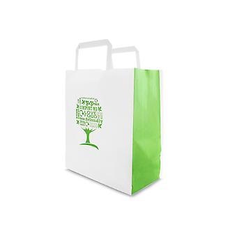 Vegware Green Tree Medium Paper Bags