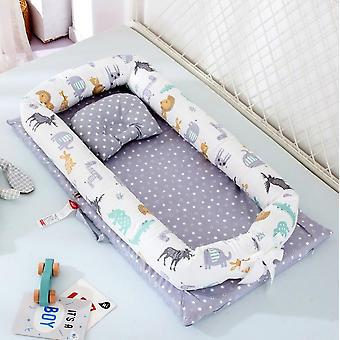 Portable Baby Bionic Bed- Cotton Cradle Baby Bassinet Bumper Folding Sleep Nest For Toddler Newborn Play Mat Travel Bed