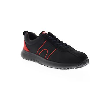 Camper Canica  Mens Black Canvas Lace Up Euro Sneakers Shoes