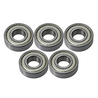 15mm ID 35mm OD 6202ZZ Deep Groove Ball Bearing Iron Cover Set of 5
