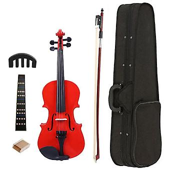 1/8 Attelles Bright Acoustic Violin Fiddle With Rosin Case Bow Muffler Kits