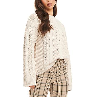 Na-Kd Women's Cable Knitted Sweater
