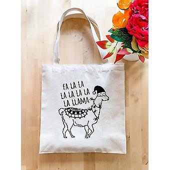 Fa La La La La La La La Llama Print - Urlaub Einkaufstasche