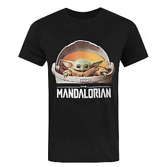 Mandalorian Baby Yoda T-paita Star Wars Lahja Men's Musta Toppi