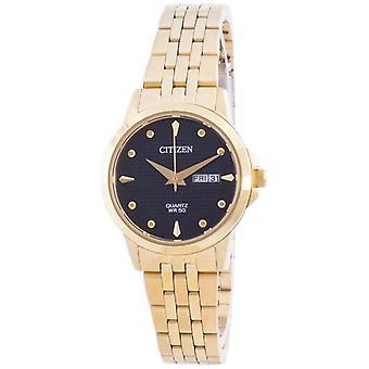 Citizen Black Dial Stainless Steel Quartz Eq0603-59f Women's Watch