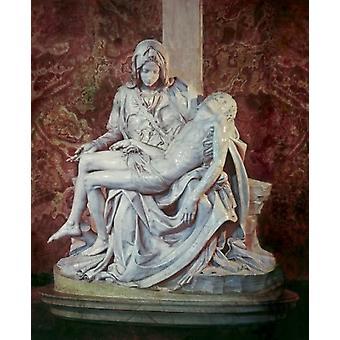 La Pieta C1498 Michelangelo Buonarroti in marmo scultura St Peters Basilica stampa del manifesto di città del Vaticano