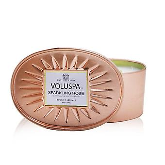 Voluspa 2 Wick Oval Tin Candle - Sparkling Rose 340g/12oz