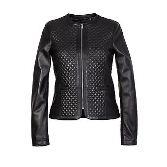 Gille womens diamond patterned leather jacket