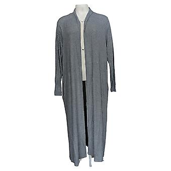 Lisa Rinna Collection Women's Sweater Open Duster Cardigan Blue A349735