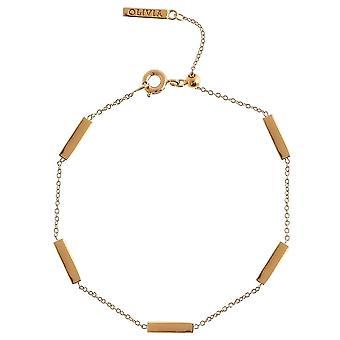 Olivia Burton Obj16enb13 Engravable Bar Chain Bracelet Gold
