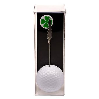 Photo and ticket holder golf ball Klavertje four