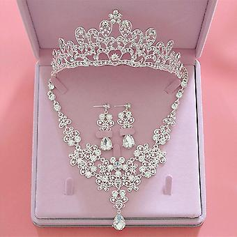 Fashion Crystal Wedding Bridal Jewelry Sets-tiara, Crowns, Earring, Necklace,