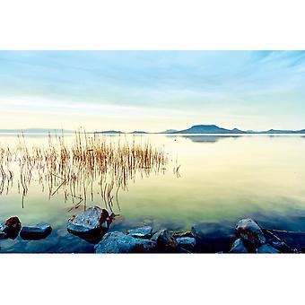 Tapete Wandbild Schöner Sonnenuntergang am See