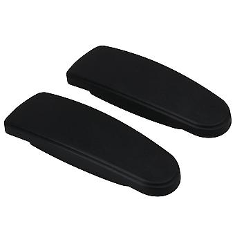 2 Pieces Black Office Chair Armrests for Office Parts 25x8cm