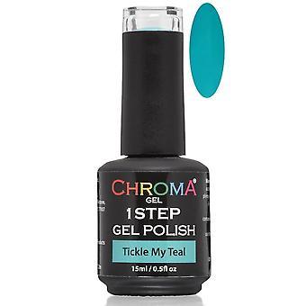Chroma Gel One Step Gel Polish - Tickle My Teal
