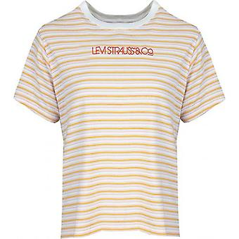 Levi's Red Tab Linear Logo Striped Varsity T-Shirt