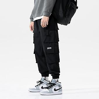 Hip Hop Joggere Cargo Menn Multi-pocket Bånd Sweatpants Bukser